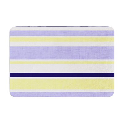 Jack Tar by Alison Coxon Bath Mat Color: Purple, Size: 17W x 24L
