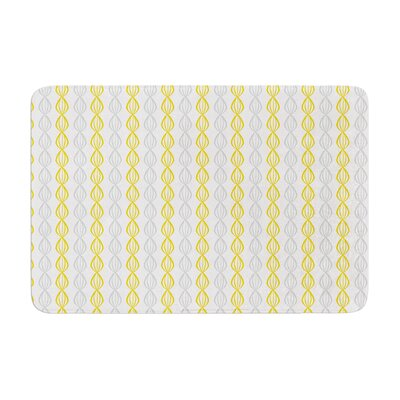 Pod by Julie Hamilton Bath Mat Color: Lemon, Size: 17W x 24L