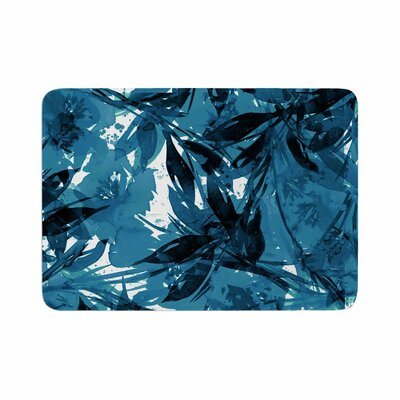 Floral Fiesta by Ebi Emporium Memory Foam Bath Mat Color: Blue, Size: 24 L x 17 W