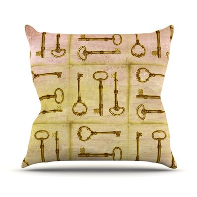 Secret Keys Outdoor Throw Pillow Color: Tan