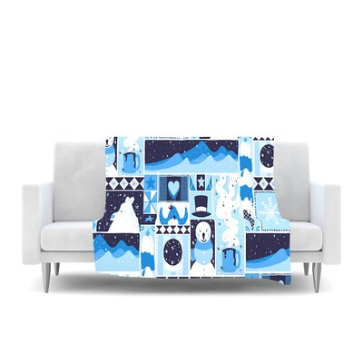Winter Fleece Throw Blanket Size: 40 L x 30 W
