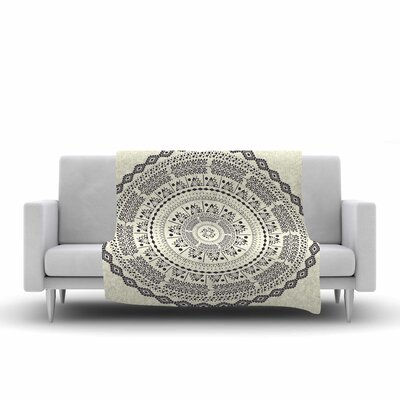 Swadesi Soft Boho Mandala Fleece Throw Blanket Size: 60 L x 50 W