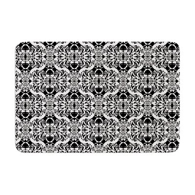 Illusion Damask by Mydeas Bath Mat Color: Black/White, Size: 17