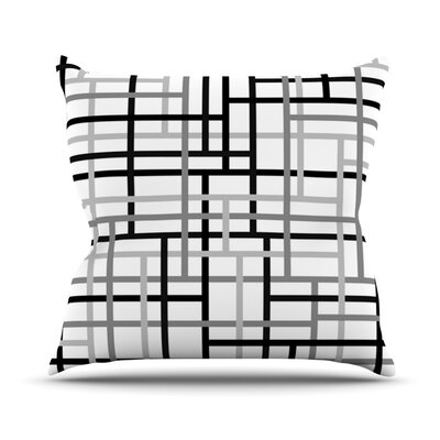 Veza by Trebam Outdoor Throw Pillow Color: Black/White