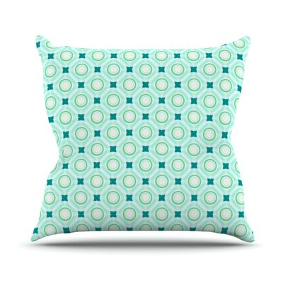 Tossing Pennies by Catherine McDonald Outdoor Throw Pillow Color: Teal