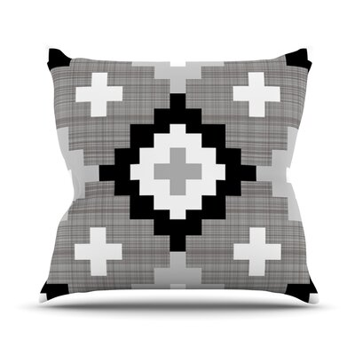 Moroccan Diamonds by Pellerina Design Outdoor Throw Pillow Color: Gray