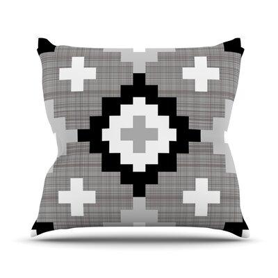 Moroccan by Pellerina Design Outdoor Throw Pillow Color: Gray/White
