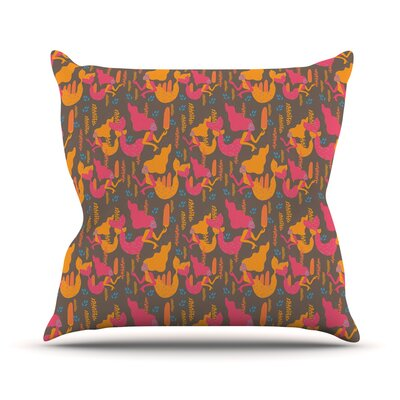 Mermaids II by Akwaflorell Throw Pillow Size: 18 H x 18 W x 3 D
