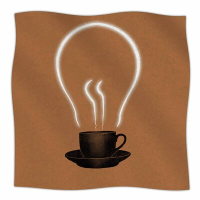 Coffee Throw Blanket Size: 90 L x 90 W