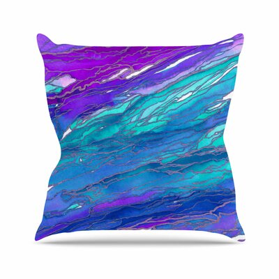 Agate Magic Throw Pillow Color: Purple / Blue, Size: 26 H x 26 W x 7 D