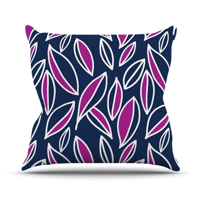 Leaving by Emine Ortega Outdoor Throw Pillow Color: Magenta
