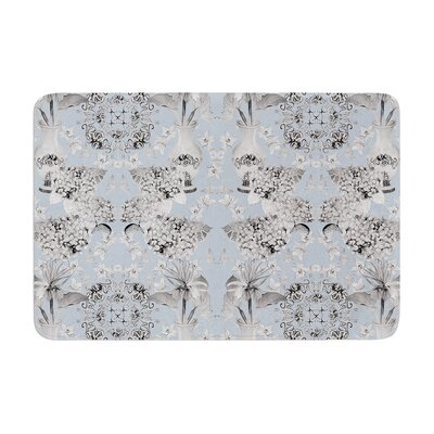 Versailles by DLKG Design Bath Mat Color: Blue, Size: 17W x 24L