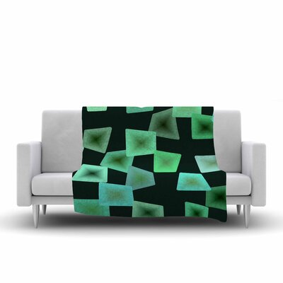 Seaglass on The Shore Fleece Throw Blanket Size: 90 L x 90 W