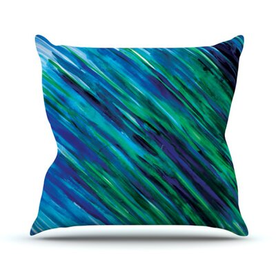Outdoor Throw Pillow Color: Blue