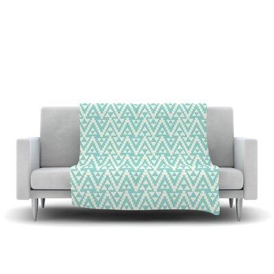 Geo Tribal by Amanda Lane Fleece Throw Blanket Size: 80 L x 60 W, Color: Turquoise