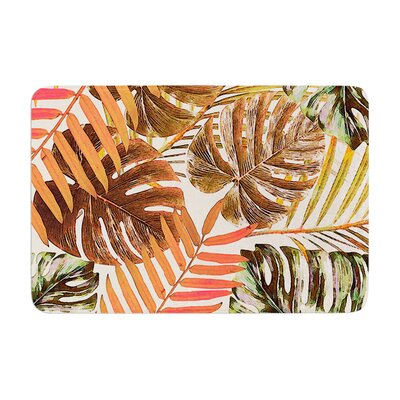 Jungle by Alison Coxon Bath Mat Color: Rust