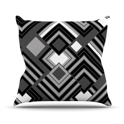 Luca by Jacqueline Milton Outdoor Throw Pillow Color: Monochrome