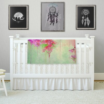 When Land Met Sky by Ebi Emporium Fleece Blanket Color: Pink