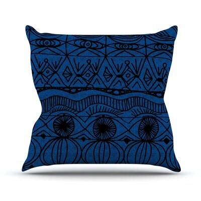 Catherine Holcombe Outdoor Throw Pillow Color: Black/Blue