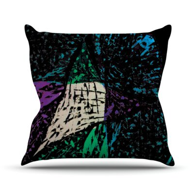 Family by Theresa Giolzetti Outdoor Throw Pillow Color: Blue/Green