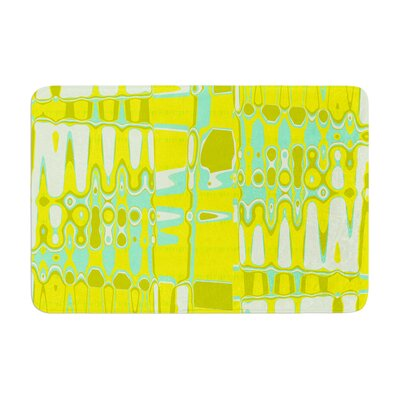 Changing Gears by Vikki Salmela Bath Mat Color: Sunshine