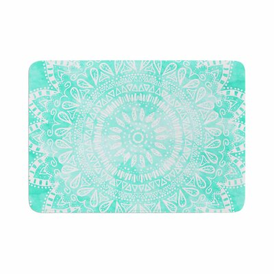 Boho Flower Mandala by Nika Martinez Bath Mat Color: Teal