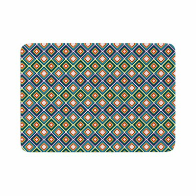 Bright Squares by Candice Singh Memory Foam Bath Mat Color: Blue