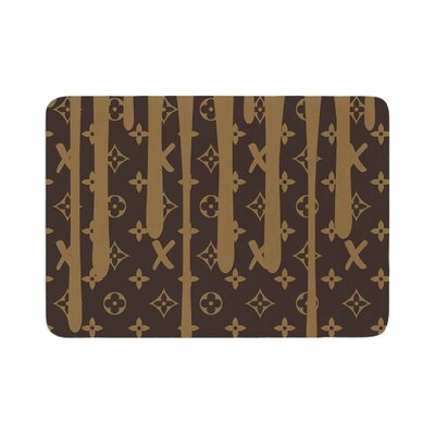 LX Drip by Just L Memory Foam Bath Mat Size: 24 L x 17 W, Color: Brown
