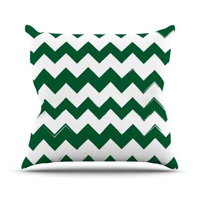 Candy Cane Outdoor Throw Pillow Color: Green