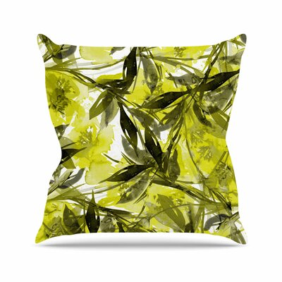 Floral Fiesta Throw Pillow Size: 26 H x 26 W x 7 D, Color: Yellow / Gray