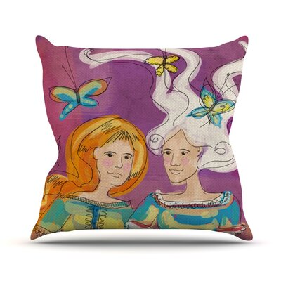 Amigas by Carina Povarchik Throw Pillow Size: 26 H x 26 W x 5 D