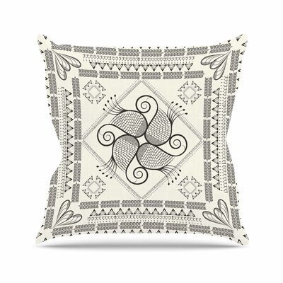Paisley into the Dream Throw Pillow Color: Beige, Size: 18 H x 18 W x 6 D