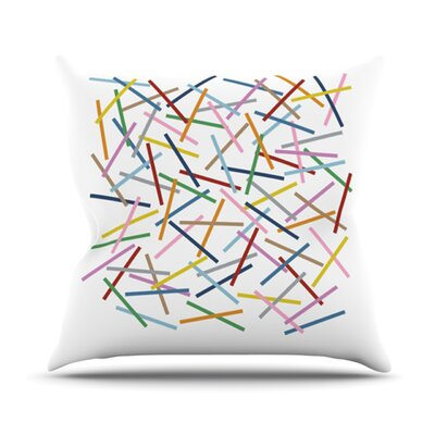 Sprinkles by Project M Outdoor Throw Pillow Color: White