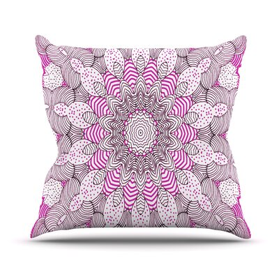Dots and Stripes by Monika Strigel Outdoor Throw Pillow Color: Pink