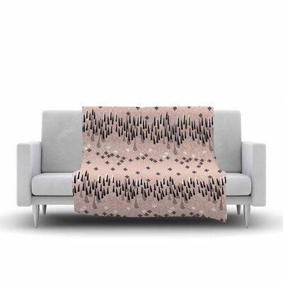 Drop of Memphis by Zara Martina Mansen Fleece Blanket Color: Peach