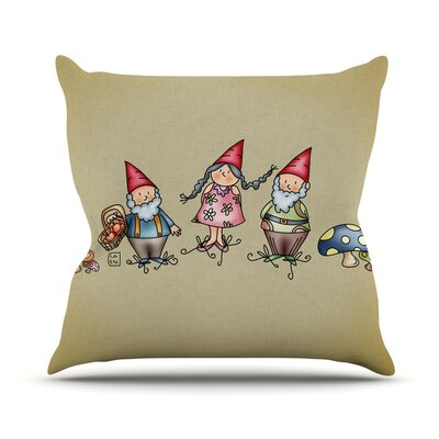 Gnomes by Carina Povarchik Throw Pillow Size: 26 H x 26 W x 5 D