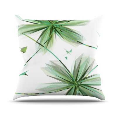 Flower by Alison Coxon Outdoor Throw Pillow Color: Teal