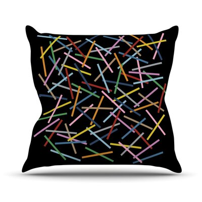 Sprinkles by Project M Outdoor Throw Pillow Color: Black