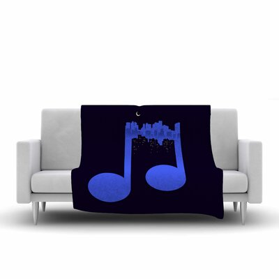 Night Music Fleece Throw Blanket Size: 90 L x 90 W