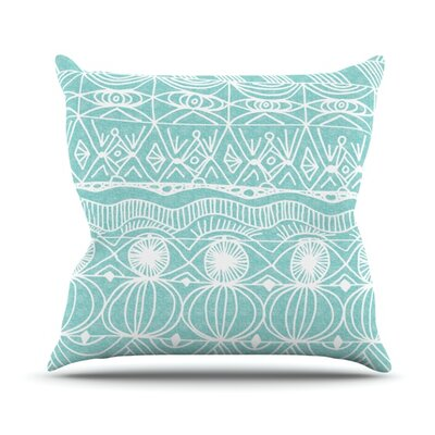 Catherine Holcombe Outdoor Throw Pillow Color: Turquoise