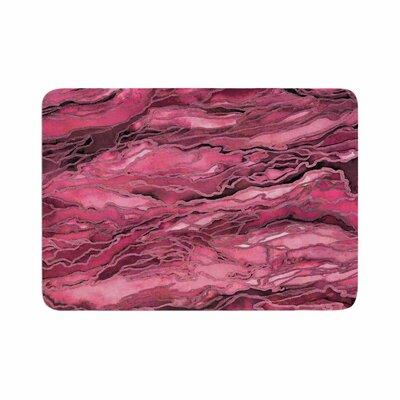 Marble Idea! by Ebi Emporium Memory Foam Bath Mat Size: 24 L x 17 W, Color: Coral Pink