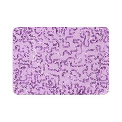Squiggles by Anneline Sophia Memory Foam Bath Mat Color: Purple