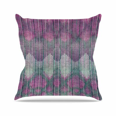 Vintage Ikat Throw Pillow Size: 20 H x 20 W x 7 D, Color: Pink