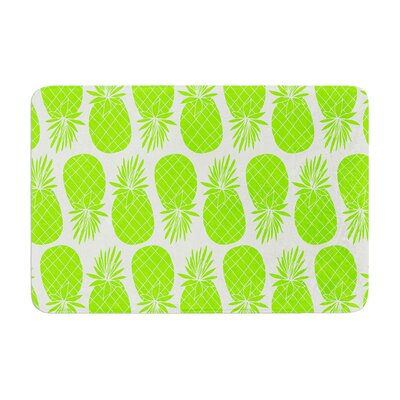 Pinya by Anchobee Bath Mat Color: Neon Green, Size: 17W x 24L