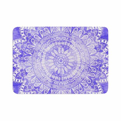 Boho Flower Mandala by Nika Martinez Memory Foam Bath Mat Color: Purple