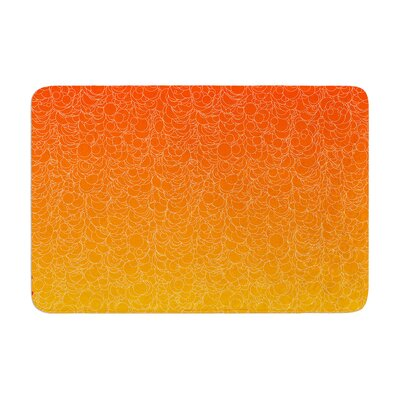 Bubbling by Frederic Levy-Hadida Bath Mat Color: Red, Size: 17W x 24L