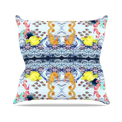 Marine Life by DLKG Design Throw Pillow Size: 16 H x 16 W x 3 D