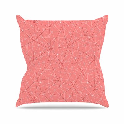 Wanderlust Throw Pillow Color: Pink, Size: 16 H x 16 W x 6 D