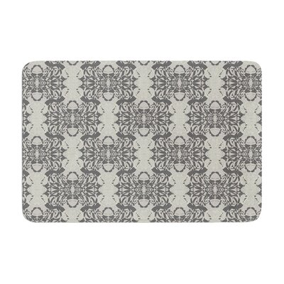 Illusion Damask by Mydeas Bath Mat Color: Silver, Size: 17