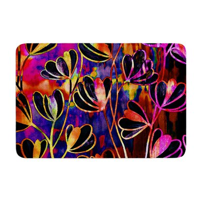Effloresence by Ebi Emporium Bath Mat Color: Deep Jewel, Size: 17W x 24L